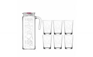 Set carafa 1.2 L si 6 pahare pentru apa