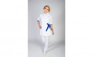 Sarafan Medical Kimono, Alb
