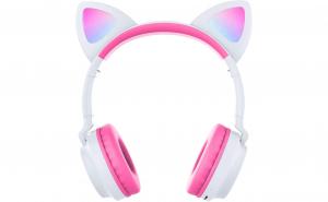 Casti audio copii cu urechiuse luminoase