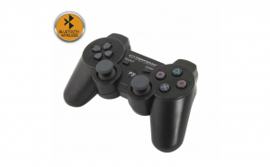 Gamepad Bluetooth, PS3, 12 butoane, vibratii, negru EGG109K