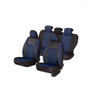 Huse scaune auto OPEL ASTRA H 2004-2010  dAL Elegance Albastru,Piele ecologica + Textil