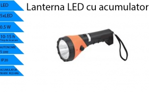 Lanterna reincarcabila LED, 5x0.1W Model 2, la doar 109 RON in loc de 218 RON