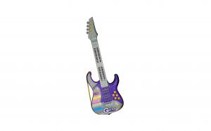 Chitara rock cu corzi si baterii