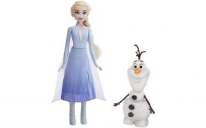 Papusa Elsa 30 cm si Olaf  - vorbeste