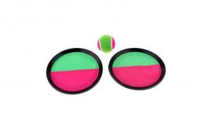 Set 2 palete cu velcro si minge, in 2 culori, roz/verde