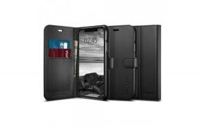Husa Portofel Spigen Wallet S pentru iPhone XR black (Black)