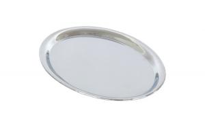 Tava servire ovala, otel cromat, 25.5 x 19.5 cm, argintiu