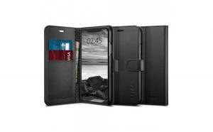 Husa Portofel Spigen Wallet S pentru iPhone XS Max black (Black)
