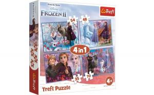 PUZZLE TREFL 4IN1 FROZEN2 CALATORIE