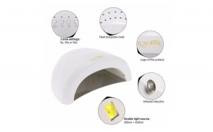 Lampa UV LED Hybrid 48W Luxorise Germania, Double Light LED, Culoare Alb