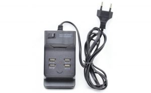 Incarcator 220V X 4 USB , 2 Porturi cu Fast Charge X 2A si 2 USB x 1A - ElectroAZ™