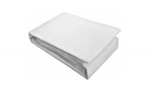 Cearceaf cu elastic 100% bumbac jersey HPJ1 alb pentru saltea de 180x200 cm