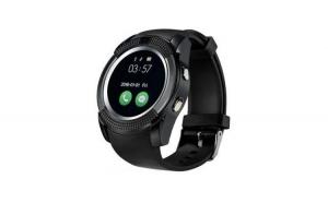 Ceas smartwatch v8 negru handsfree bluetooth 3.0 micro sim