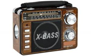 Radio portabil , lanterna , mp3, suport