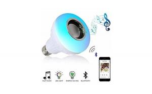 Bec LED cu boxa 3W muzica bluetooth 1PLUS 1 CADOU