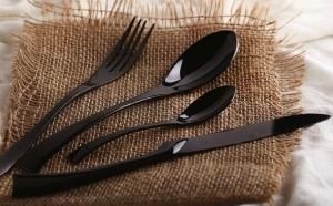 Set 4 tacamuri negre Lux pentru bucatarii elegante si moderne, la 139 RON in loc de 279 RON! Garantie 12 luni!