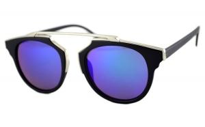 Ochelari de soare Passenger ZS Albastru cu reflexii - Negru/Argintiu