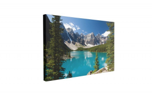 Tablou Canvas Moraine Lake, 50 x 70 cm, 100% Poliester