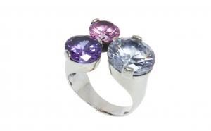 Inel din argint cu pietre semipretioase
