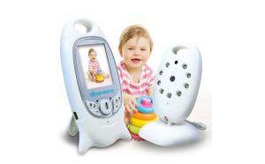 Baby Monitor Pro Audio Video, Wi-Fi, Nigh Vision IR LED 2.5 inch ,Functie Push to talk, 360⁰
