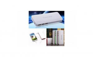 Baterie externa Power 20000 mAh, cu 3 USB, pentru telefoane, tablete, camere foto/video