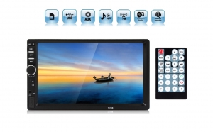 "Radio Video Player auto 2DIN MP5 7"", cu Touchscreen, 45Wx4 cu MicroSD, USB, AUX, RCA, Bluetooth"