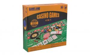 Joc de societate 4 in 1 Casino Games Gameland