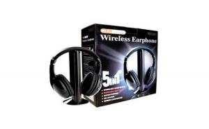 Casti Wireless 5 in 1 - compatibile PC, MP3, Tv, CD sau DvD