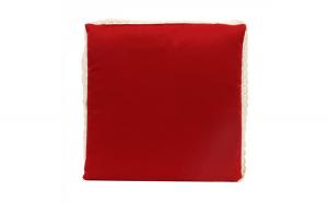 Perna pentru sezut, EVO, rosie, bumbac + poliester, 40 x 40 x 3 cm
