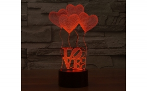 Lampa LED Decorativa New Idea 3D, Mos Nicolae