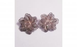 Cercei - Floare din argint filigran, Produse Noi