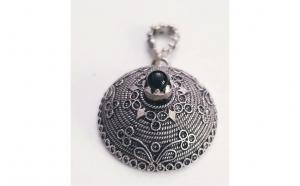 Pandantiv Topazio din Argint cu piatra Onix