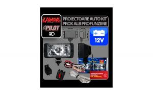 Proiectoare auto kit Prox alb 12V 2buc -