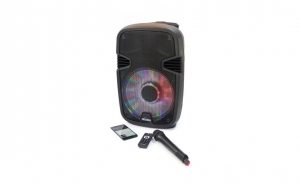 Boxa Karaoke 1000 cu microfon, telecomanda, Bluetooth, USB, Radio FM, SD Card, Aux, Mp3 player