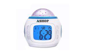 Ceas digital luminos, proiectie LED stelute, alarma, temperatura, calendar