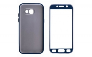 Husa Samsung Galaxy S7 Edge Flippy Full Silicone 360 Albastru + Folie de protectie