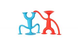 Set 2 figurine din siliconic cu ventuze,