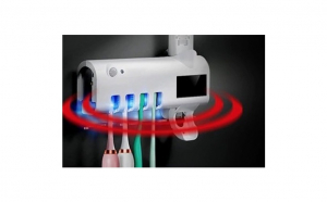 Dozator electric de pasta de dinti cu alimentare solara si Sterilizator UV cu incarcare USB