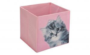 Cutie pentru depozitare roz pisica
