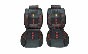 Huse scaune auto universale, rosu negru