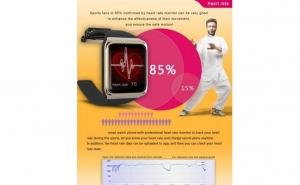 Smart Watch android Facebook, 2 in 1 ceas telefon, monitorizare puls, compas, la doar  239 RON in loc de 599 RON