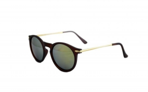 Ochelari de soare Wayfarer S Verde cu reflexii - Negru Mat