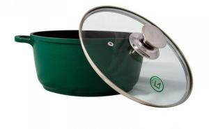 Cratita tip tuci din aluminiu GR9032 Grunberg interior teflon 32cm, verde, la 126 RON in loc de 261 RON