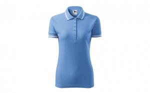 Tricou dama, model polo, albastru deschis
