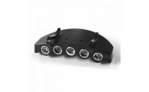 Lanterna cu sistem de prindere pe sapca pentru vanatoare si pescuit Dema DEMA30219, 5 LED-uri