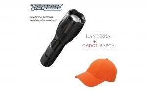 Lanterna Profesionala LED cu lupa si zoom, rezistenta la apa, Tac Light, lumina pana la 9KM + SAPCA CADOU la doar 50 RON in loc de 200 RON