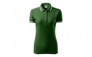 Tricou dama, model polo, verde sticla