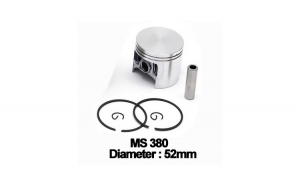 Piston complet Stihl: MS 380, 381 (52mm) -