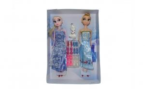 Set papusi Frozen, Anna, Elsa si Olaf,cu 6 perechi de pantofi, 33 cm, varsta 3 ani+ multicolor