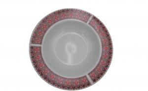 Set 3 farfurii din ceramica, model traditional